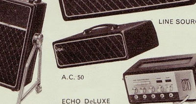 Vox AC50 adverts and brochures