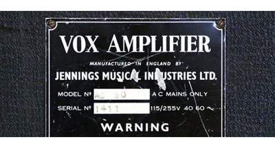 Vox AC50s, introduction