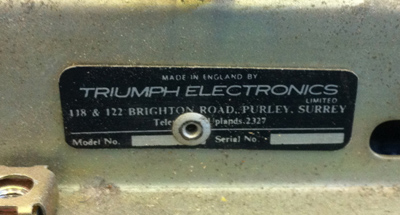 Triumph Electronics, contractors for Vox