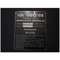 Vox AC50, large box, serial number 1847