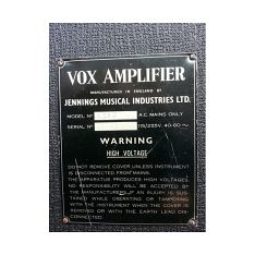 Vox AC50, large box, serial number 2143