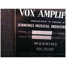 Vox AC50, large box, serial number 2172
