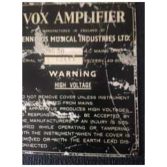 Vox Ac50, large box, serial number 2553