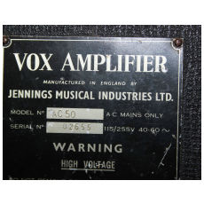 Vox Ac50, large box, serial number 2555