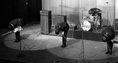 The Beatles with Vox AC50s