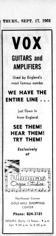 Arlington Heights Herald, Vox advert, 17th September 1964