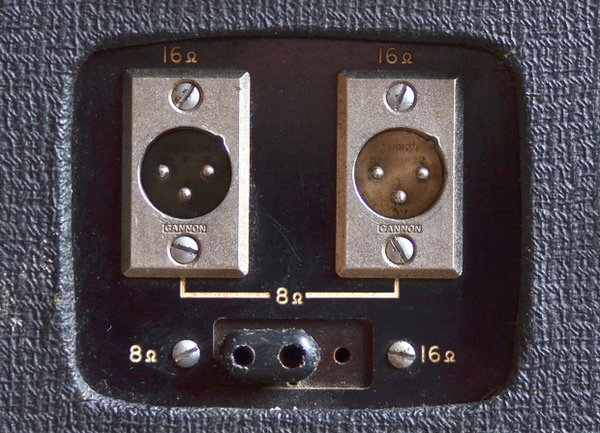 XLR mounting plate on the earliest large box AC50s