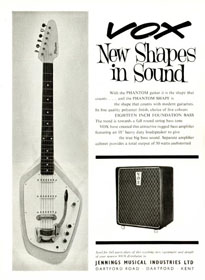 Vox advert for the Foundation Bass, 1963
